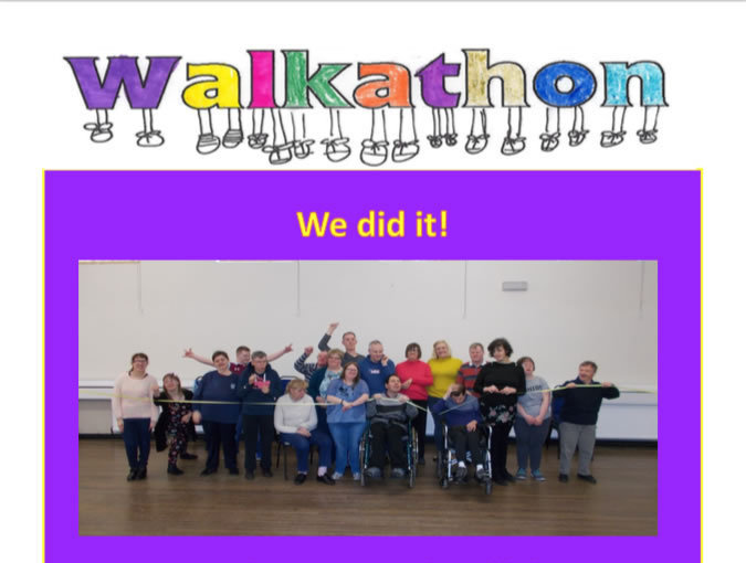 WALKATHON RAISED £1,023.00!!!!